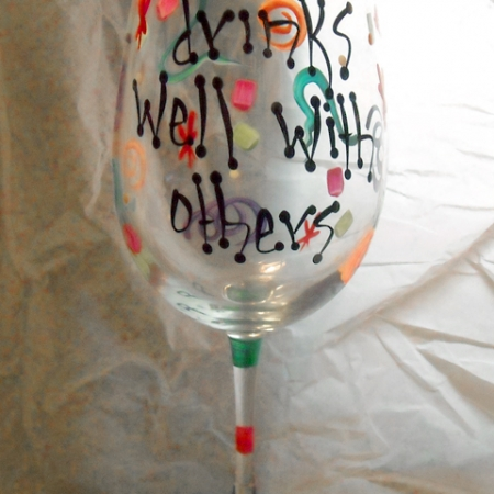 Handpainted Glasses by Patsy