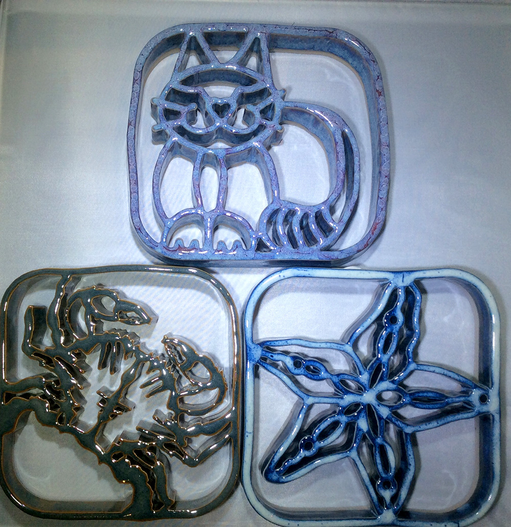Bay Pottery animal trivets