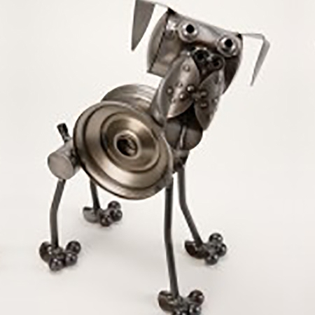 metal animal sculpture