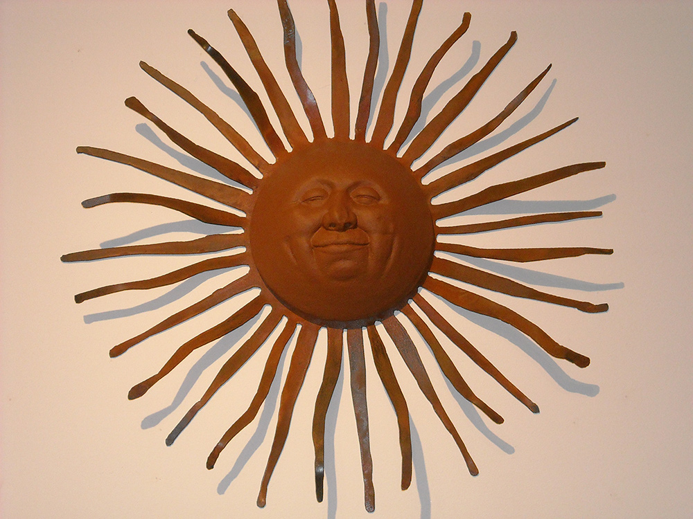 Sun Face Sculpture