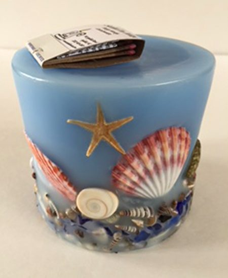 Handmade Outer Banks Shell Candles